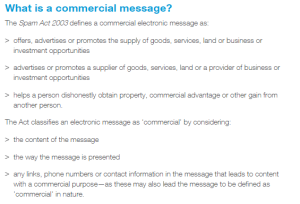 What qualifies as commercial intent?
